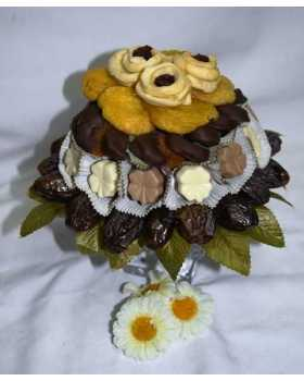 Dried Fruit and Chocolate Flower Arrangement