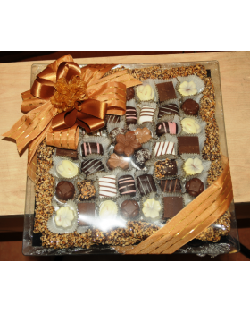 Chocolate Square Glass Tray