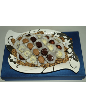 Ceramic Flower Design Chocolate Platter
